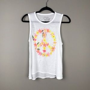 Chaser flower peace tank top
